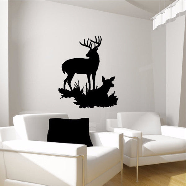 Deer Style I Vinyl Wall Decal  22335 - Cuttin' Up Custom Die Cuts - 1