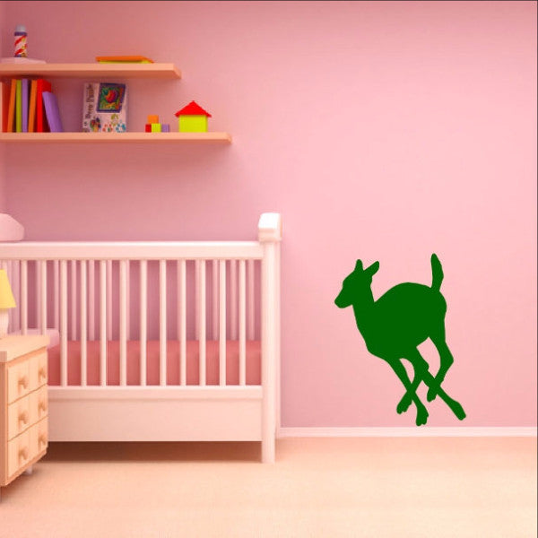 Deer Style L Vinyl Wall Decal 22338 - Cuttin' Up Custom Die Cuts - 1