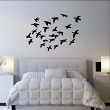 Load image into Gallery viewer, Flock of Ducks in Flight Vinyl Wall Decal 22340 - Cuttin' Up Custom Die Cuts - 1