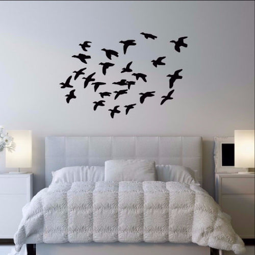 Flock of Ducks in Flight Vinyl Wall Decal 22340 - Cuttin' Up Custom Die Cuts - 1