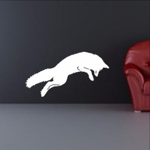 Fox Vinyl Wall Decal Arctic Fox Jumping 22341 - Cuttin' Up Custom Die Cuts - 1