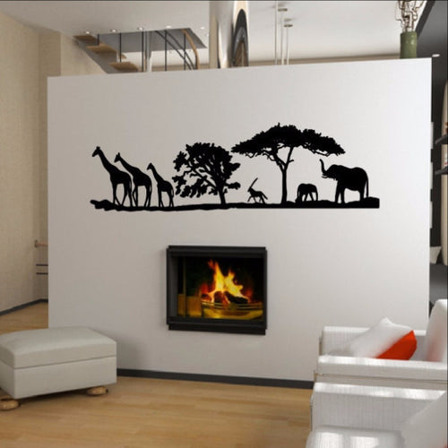African Savannah Animals Vinyl Wall Decal 22346 - Cuttin' Up Custom Die Cuts - 1