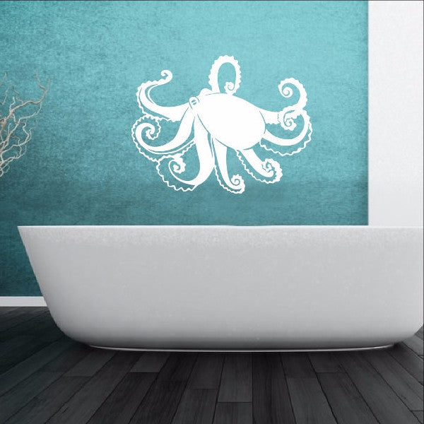 Octopus Vinyl Wall Decal 22348 - Cuttin' Up Custom Die Cuts - 1