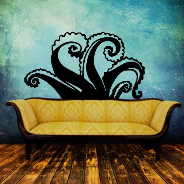 Tentacles Vinyl Wall Decal 22349 - Cuttin' Up Custom Die Cuts - 1