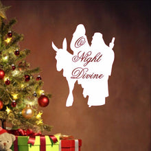 Load image into Gallery viewer, O Night Divine with Mary and Joseph Silhouette Removable Vinyl Wall Decal  22352 - Cuttin' Up Custom Die Cuts - 1