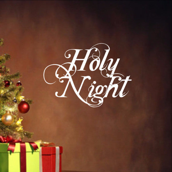 Holy Night Removable Christmas Vinyl Wall Decal 22353 - Cuttin' Up Custom Die Cuts - 1