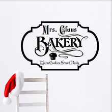 Load image into Gallery viewer, Mrs Claus Bakery Christmas Removable Vinyl Wall Decal  - Christmas Decor 22357 - Cuttin' Up Custom Die Cuts - 1