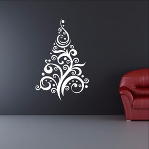 Christmas Tree Style C Removable Vinyl Wall Decal  22360 - Cuttin' Up Custom Die Cuts - 1