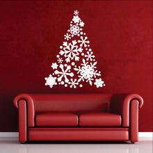 Load image into Gallery viewer, Snowflake Christmas Tree Vinyl Wall Decal 22358 - Cuttin' Up Custom Die Cuts - 1