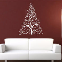 Load image into Gallery viewer, Christmas Tree Style B Swirly Removable Vinyl Wall Decal 22359 - Cuttin' Up Custom Die Cuts - 1