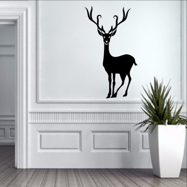 Reindeer Style B Christmas Removable Vinyl Wall Decal 22363 - Cuttin' Up Custom Die Cuts - 1
