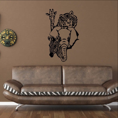 African Animals Wall Decal 22374 - Cuttin' Up Custom Die Cuts - 1
