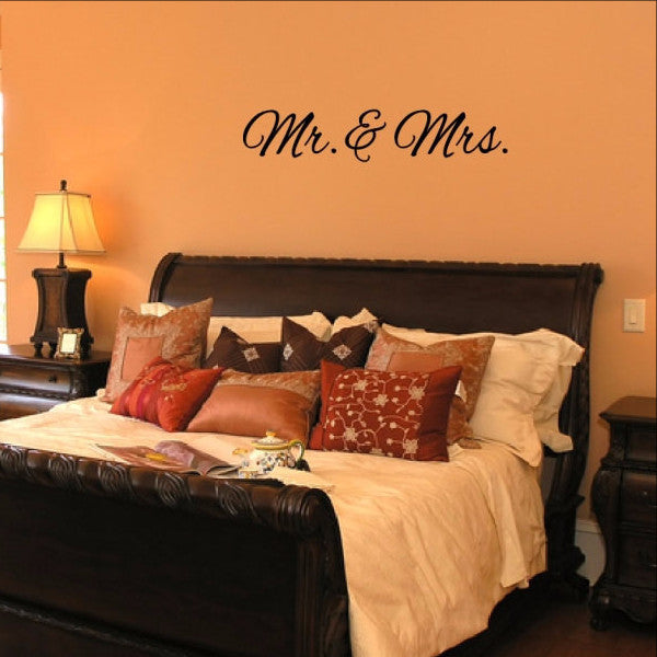 Mr and Mrs Wedding Vinyl Wall Decal 22381 - Cuttin' Up Custom Die Cuts - 1