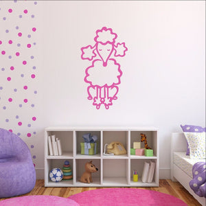 French Poodle Style B Vinyl Wall Decal 22391 - Cuttin' Up Custom Die Cuts - 1