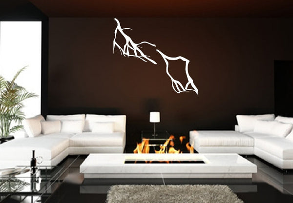 Lightning Bolts Set of Two Vinyl Wall Decals 22397 - Cuttin' Up Custom Die Cuts - 2