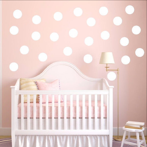 Polka Dots Set of 24 Childrens Room Nursery Decor 22402 - Cuttin' Up Custom Die Cuts - 1