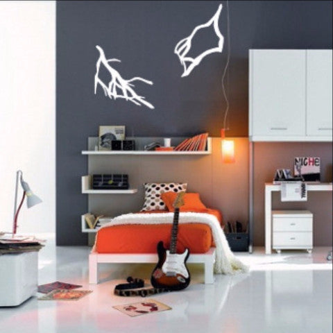 Lightning Bolts Set of Two Vinyl Wall Decals 22397 - Cuttin' Up Custom Die Cuts - 1
