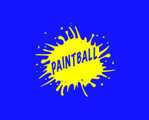 Paintball with Splatter Sign Style A 22406 - Cuttin' Up Custom Die Cuts - 2