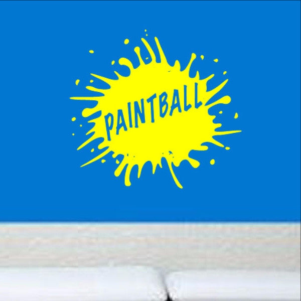 Paintball with Splatter Sign Style A 22406 - Cuttin' Up Custom Die Cuts - 1