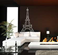 Load image into Gallery viewer, Eiffel Tower Large Abstract Vinyl Wall Decal Style B 22410 - Cuttin' Up Custom Die Cuts - 1