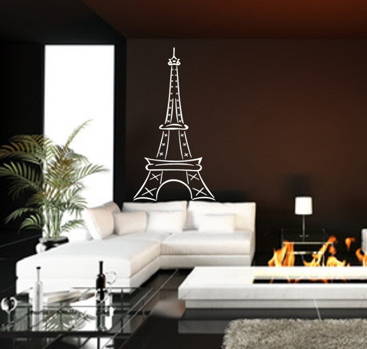 Eiffel Tower Large Abstract Vinyl Wall Decal Style B 22410 - Cuttin' Up Custom Die Cuts - 1