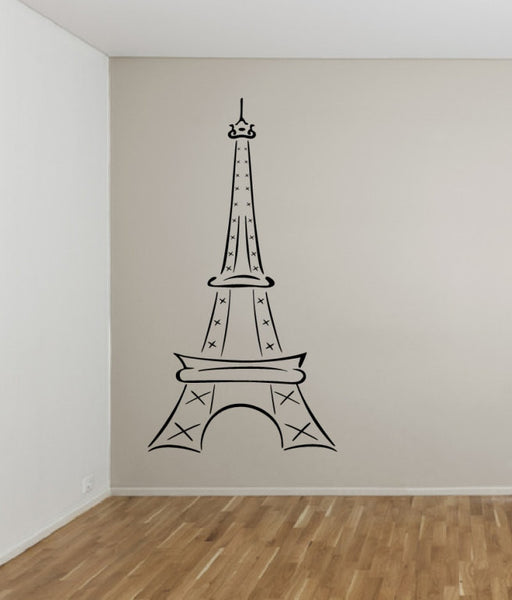 Eiffel Tower Large Abstract Vinyl Wall Decal Style B 22410 - Cuttin' Up Custom Die Cuts - 2