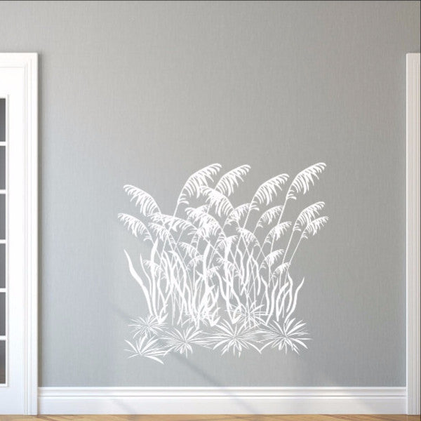 Sea Oats Sea Grass Vinyl Wall Decal Style C 22424 - Cuttin' Up Custom Die Cuts - 1