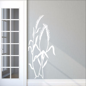 Sea Oats Sea Grass Style D Beach Vinyl Wall Decal 22425 - Cuttin' Up Custom Die Cuts - 1