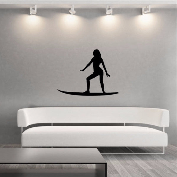 Surfer Girl Style B Vinyl Wall Decal 22430 - Cuttin' Up Custom Die Cuts - 1