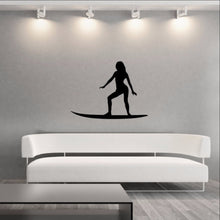 Load image into Gallery viewer, Surfer Girl Style B Vinyl Wall Decal 22430 - Cuttin' Up Custom Die Cuts - 1