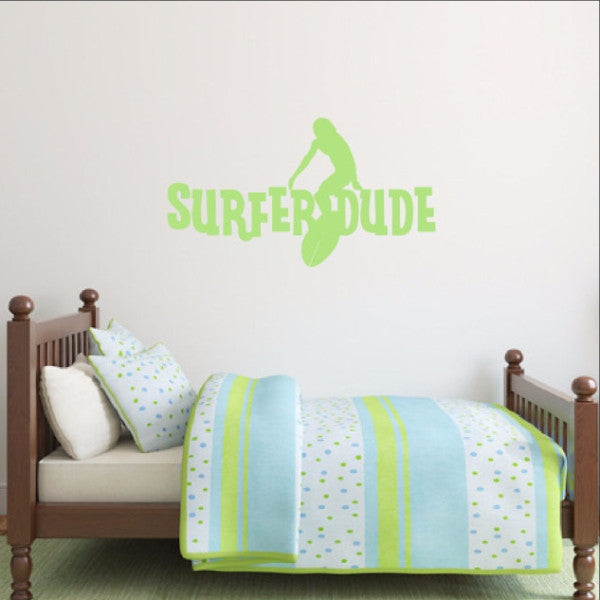 Surfer Dude Vinyl Wall Decal 22435 - Cuttin' Up Custom Die Cuts - 1