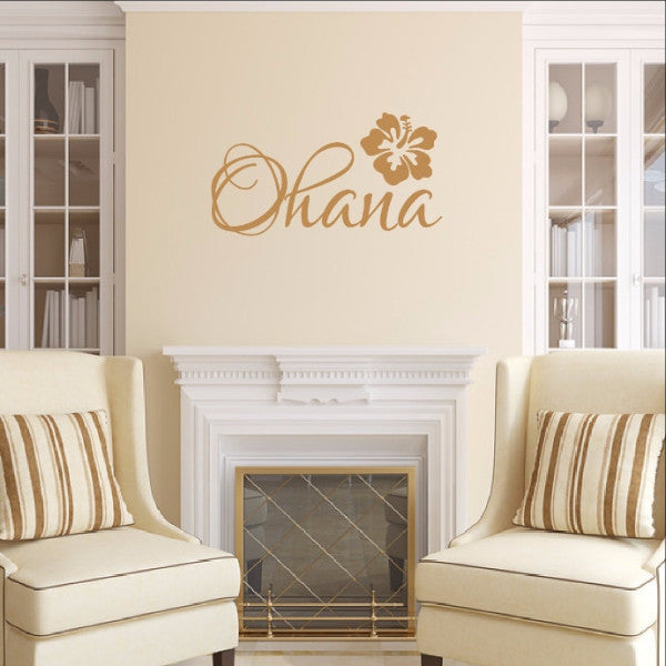 Ohana Vinyl Wall Decal 22440 - Cuttin' Up Custom Die Cuts - 1