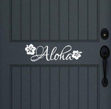 Load image into Gallery viewer, Aloha Vinyl Door Decal Wall Decal 22439 - Cuttin' Up Custom Die Cuts - 1