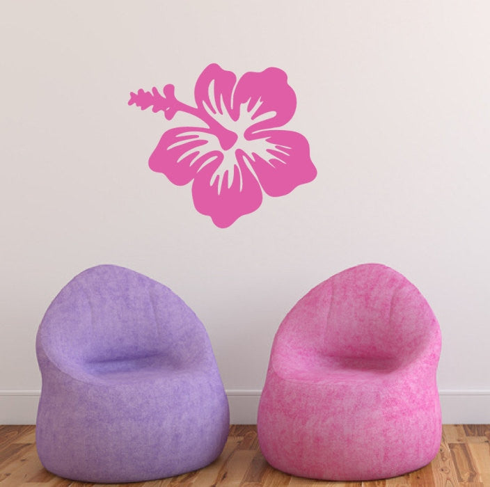Hibiscus Hawaiian Flower Vinyl Wall Decal 22445 - Cuttin' Up Custom Die Cuts - 1
