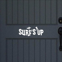Load image into Gallery viewer, Surfs Up Vinyl Door Decal 22442 - Cuttin' Up Custom Die Cuts - 1