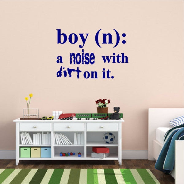Boy Definition Wall Decal - Noise with Dirt Dictionary Decal 22448 - Cuttin' Up Custom Die Cuts - 1