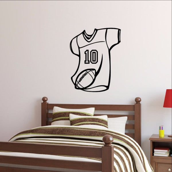 Football Jersey Wall Decal Personalized Number 22453 - Cuttin' Up Custom Die Cuts - 1