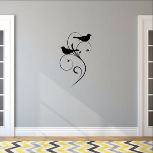 Birds with Swirls Vinyl Wall Decal  22485 - Cuttin' Up Custom Die Cuts - 1