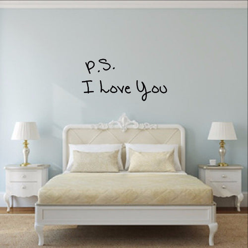 P S I Love You Vinyl Wall Decal 22498 - Cuttin' Up Custom Die Cuts - 1