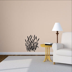 Cattails Vinyl Wall Decal  22100 - Cuttin' Up Custom Die Cuts - 1