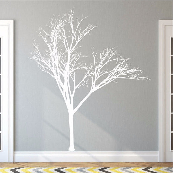 Winter Tree Style 2B Large Vinyl Wall Decal 22221 - Cuttin' Up Custom Die Cuts - 1