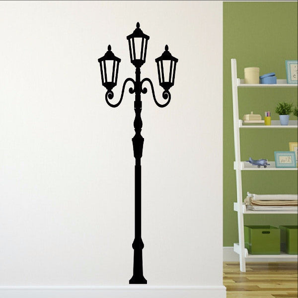 Lamp Light Post Tall Vinyl Wall Decal  22115 - Cuttin' Up Custom Die Cuts - 1