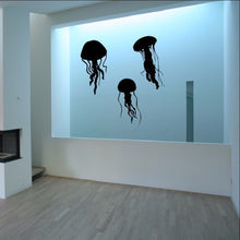 Load image into Gallery viewer, Jellyfish Silhouettes Decals - Jellyfish Set of Three Vinyl Wall Decals 22513 - Cuttin' Up Custom Die Cuts - 1