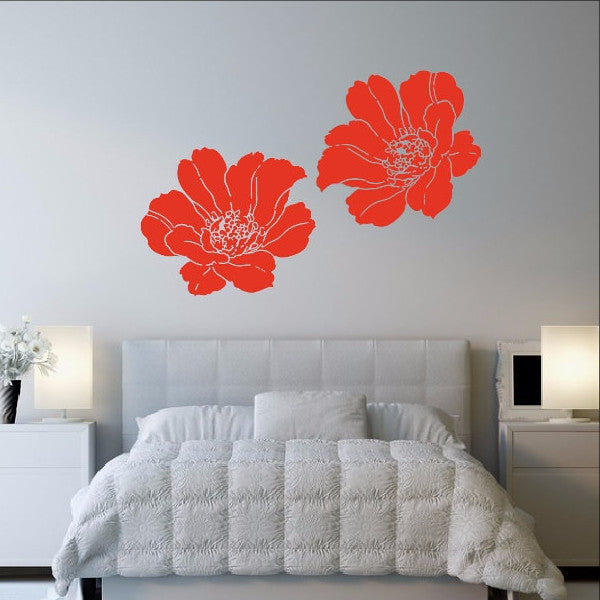Poppies Set of Two Vinyl Wall Decals 22512 - Cuttin' Up Custom Die Cuts - 1