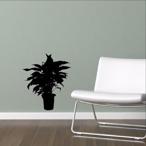 Houseplant Silhouette Style A Wall Decal - Plant Decor 22514 - Cuttin' Up Custom Die Cuts - 1