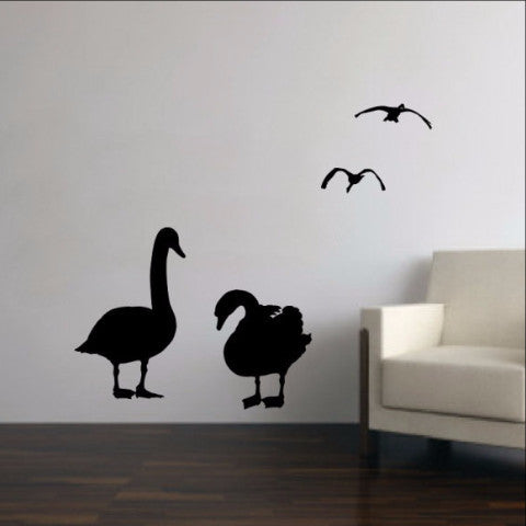 Geese Vinyl Wall Decal Set of Four 22230 - Cuttin' Up Custom Die Cuts - 1
