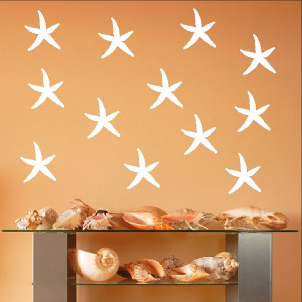 Starfish Vinyl Wall Decals - Set of 5 Inch Starfish 22519 - Cuttin' Up Custom Die Cuts - 1