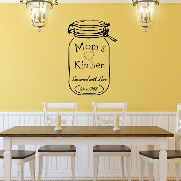 Moms Kitchen Custom Decal with Jar with Date Vinyl Decal 22522 - Cuttin' Up Custom Die Cuts - 1