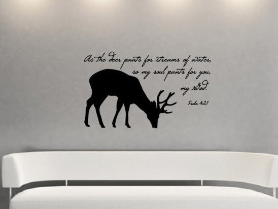 Deer Bible Verse Decal 22523 - Cuttin' Up Custom Die Cuts - 2