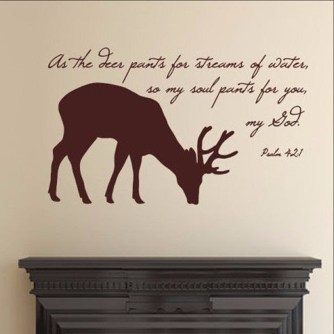 Deer Bible Verse Decal 22523 - Cuttin' Up Custom Die Cuts - 1